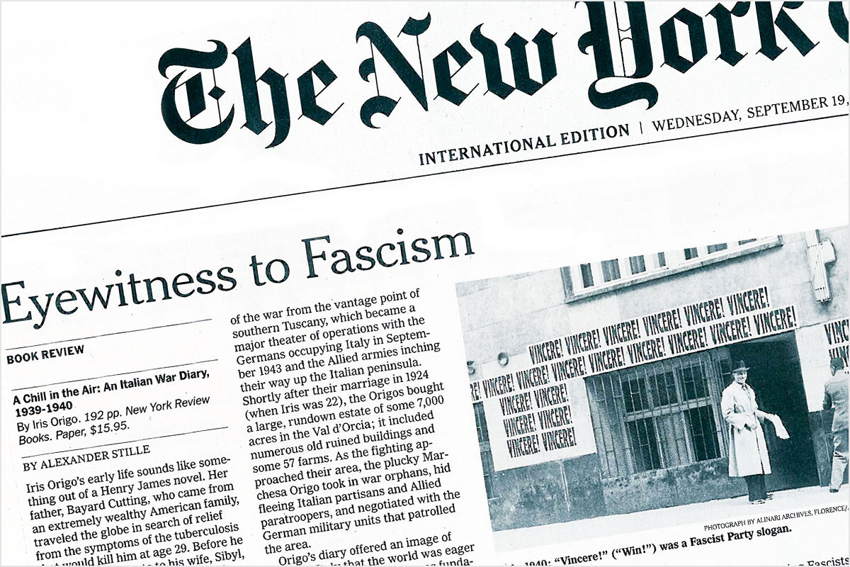 The New York Times - Eyewitness to Fascism
